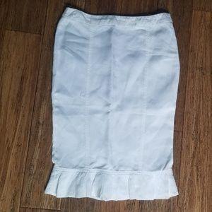 Armani Collezioni white linen skirt